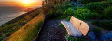 Bench With Sea View Sunset Cover Photo