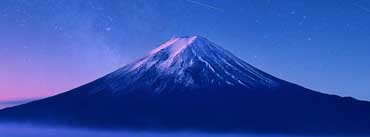 Fuji Mountain Sky Night Cover Photo