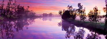 Purple River Reflection Cover Photo