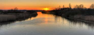 Sunset On The River Cover Photo