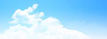Clear Blue Sky Panorama Cover Photo