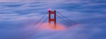 Golden Gate Bridge Fog Sunrise Cover Photo