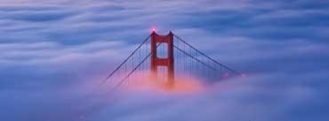 Golden Gate Bridge Fog Sunrise Cover Photo