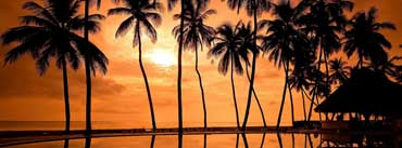 Hawaiian Beach Sunset Reflection Cover Photo