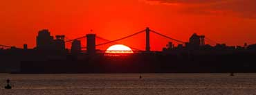 New York City Skyline Sunrise Cover Photo