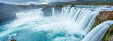 Big Waterfalls Clouds Cover Photo