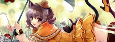 Anime Kitten Girl Cover Photo