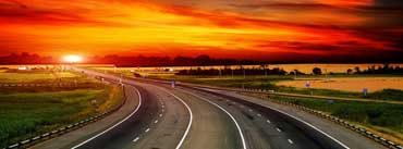 Highway At Sunset Cover Photo
