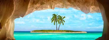 Small Island With Palm Tree Cover Photo