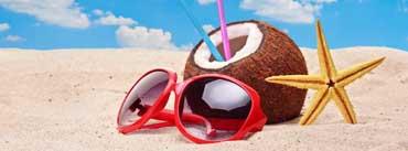 Summer Sandy Beach Sunglasses Coconut Cover Photo