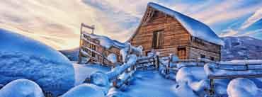 Snowy Cabin Cover Photo