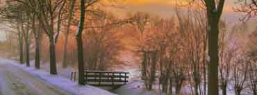 Golden Winter Sunset Cover Photo