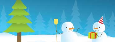 Snowmen And Christmas Tree Cover Photo