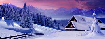 Houses Under Snow Cover Photo