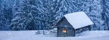 Snowy Forest Cabin Cover Photo