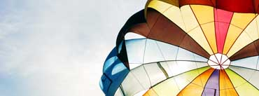 Colorful Parachute Cover Photo