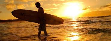 Surfer At Sunset Cover Photo