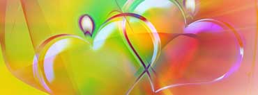 Colorful Heart Candles Cover Photo