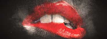 Exciting Red Lips Cover Photo