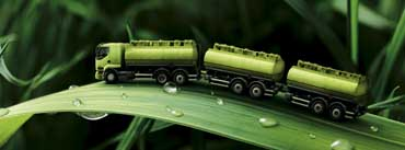 Green Truck On Leaf Cover Photo