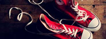 Red Converse Shoes Cover Photo