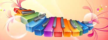 Rainbow Piano Keyboards Cover Photo