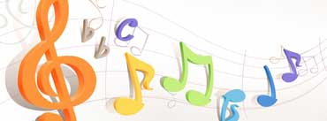 Colorful Musical Notes Cover Photo