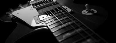 Black And White Electric Guitar Cover Photo