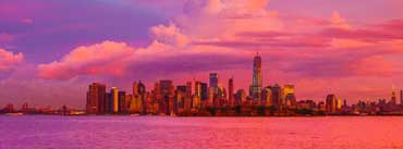 New York City Pink Sunset Cover Photo