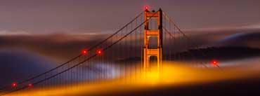 San Francisco Golden Bridge Side Cover Photo