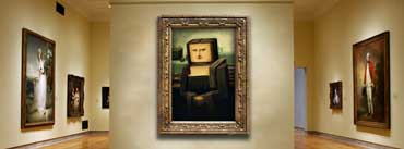 Smile Monalisa Minecraft Art Gallery Cover Photo
