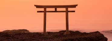 Sunrise View Torii Japan Cover Photo