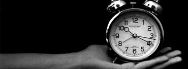Old Clock Black And White Cover Photo