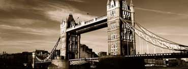 London Tower Bridge Vintage Cover Photo