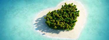 Heart Shaped Tropical Island Cover Photo