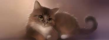 Cute Cat Painting Cover Photo