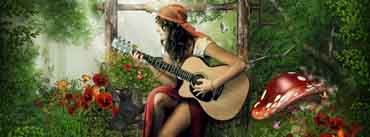 Girl Playing Guitar Cover Photo