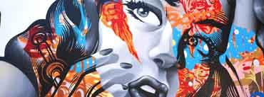 Girl Graffiti Art Cover Photo