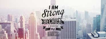 Im Strong Because I Know My Weakness Cover Photo