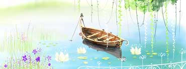 Lonely Boat Digital Art Cover Photo