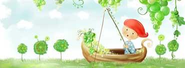 Green Grapes Boy Fishing Art Cover Photo