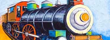 Choo Choo Train Painting Cover Photo