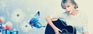 Taylor Swift Playing Guitar Cover Photo