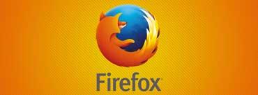 Firefox Orange Background Cover Photo