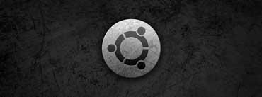 Ubuntu Metal Style Logo Cover Photo