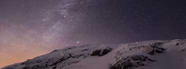 Apple Ios Mountains And Galaxy Cover Photo