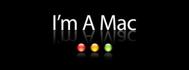 Im A Mac Black Background Cover Photo