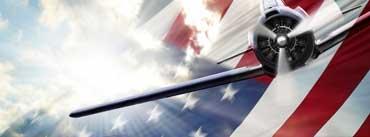Memorial Day Usa Flag Airplane Cover Photo