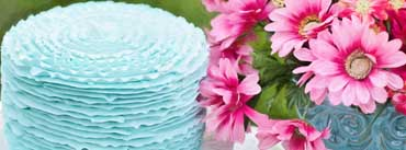 Blue Birthday Cake Cover Photo