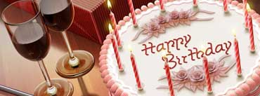 Happy Birthday Cake With Candles Cover Photo